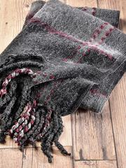 Grey Textured Blanket Scarf