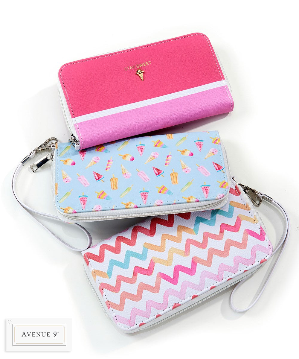 RFID Wristlet Wallet - Summer Collection