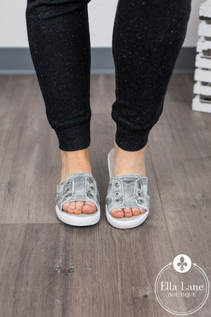 Fresco Sandals - Grey Splatter Camo