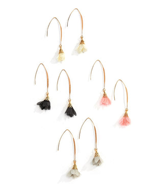 Chiffon Flower Earrings