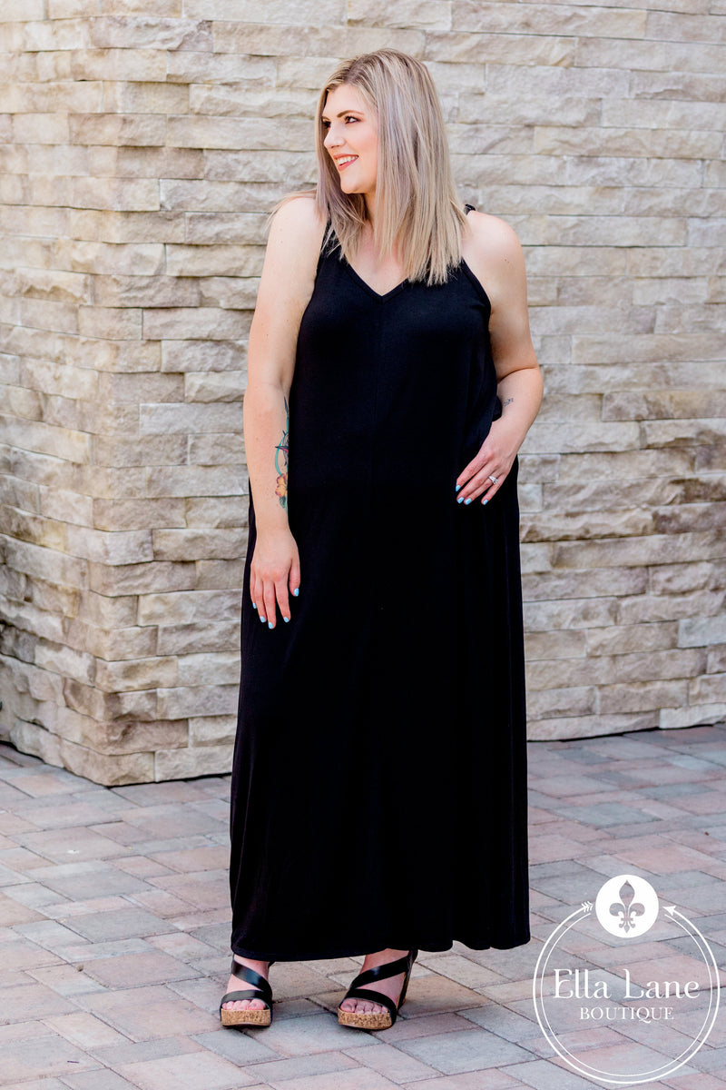 Bethany Cami Maxi Dress - Black FINAL SALE