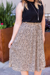 Bella Pleated Skirt - Taupe