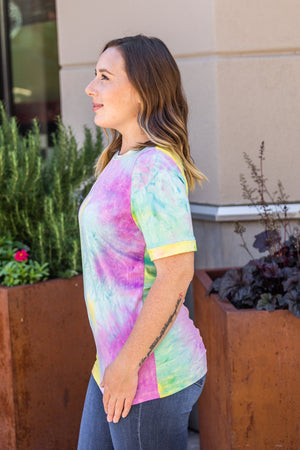 Michelle Mae Purple Mix Tie Dye Tee FINAL SALE