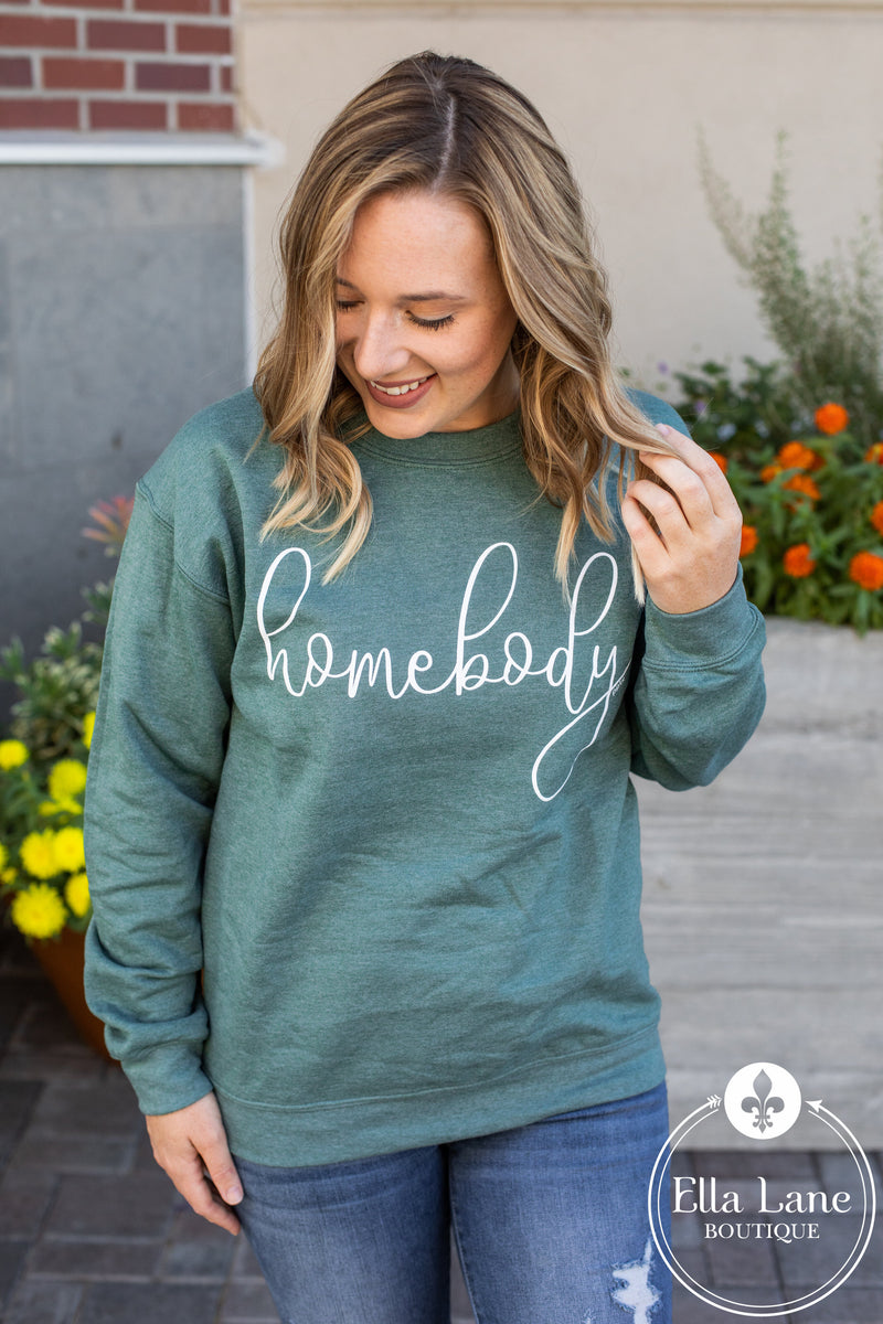 Homebody Pullover Sweatshirt - Green