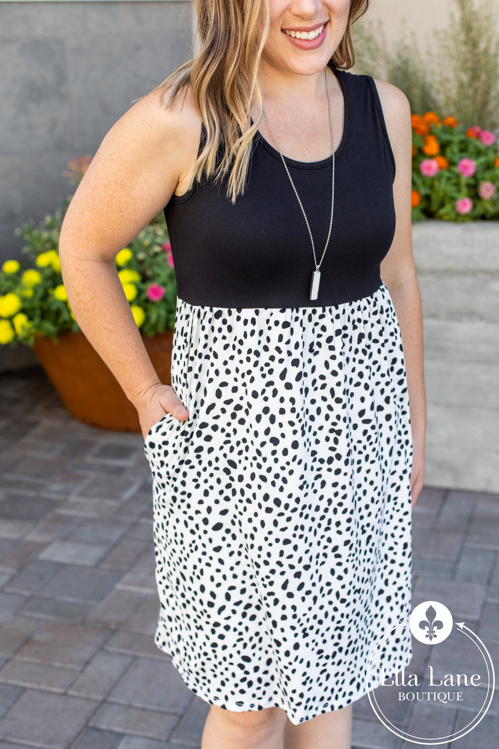 Michelle Mae Dalmatian Tank Dress