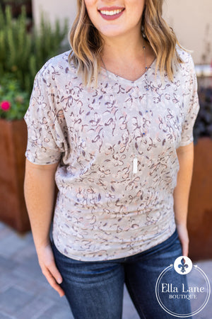 Fiona Floral Dolman Top