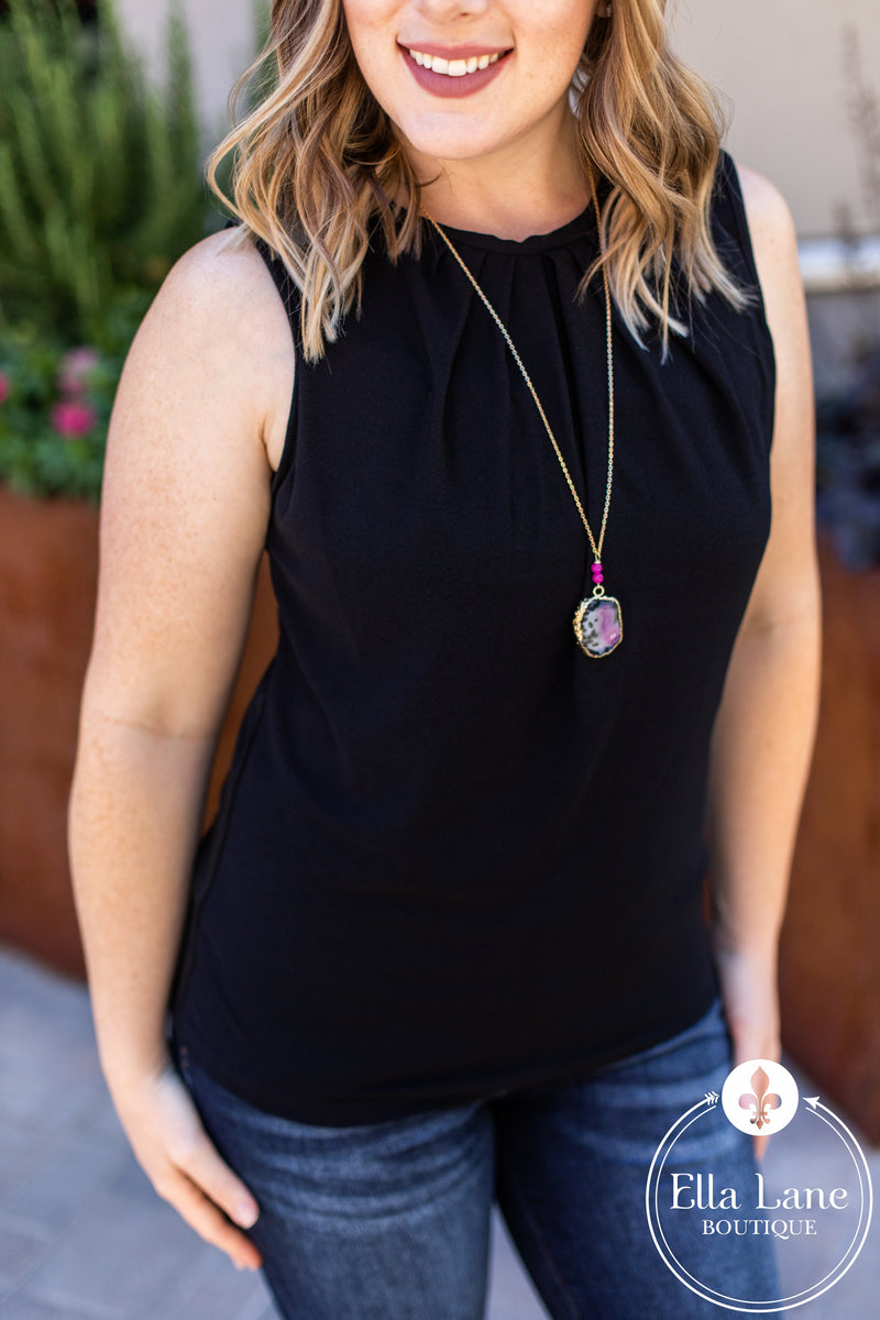 Rylee Sleeveless Top - Black FINAL SALE