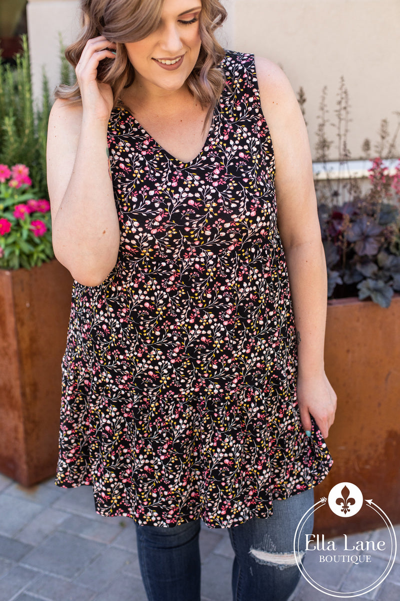 Bethany Floral Dress/Tunic FINAL SALE