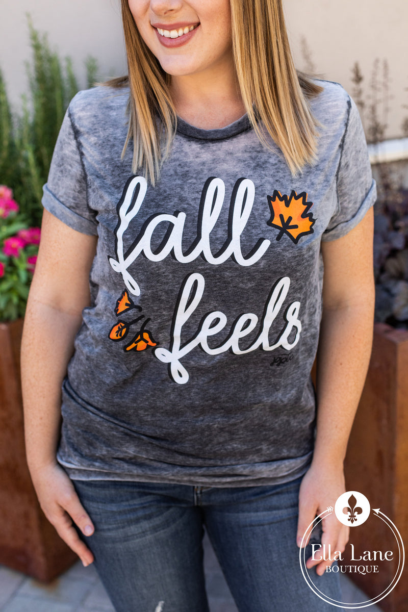 Fall Feels Burnout Tee FINAL SALE