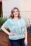 Tie Dye Dolman Top - Sage FINAL SALE