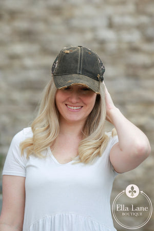 Camo Distressed Hat