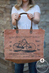 Bicycle Print Weekender Bag