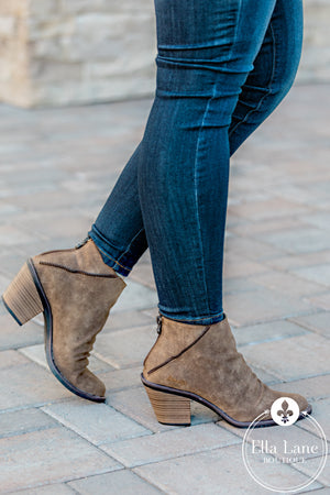 Liberty Taupe Booties FINAL SALE