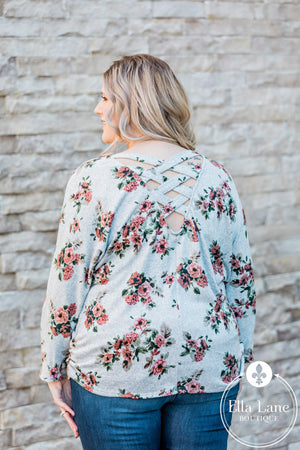Floral Criss Cross Top