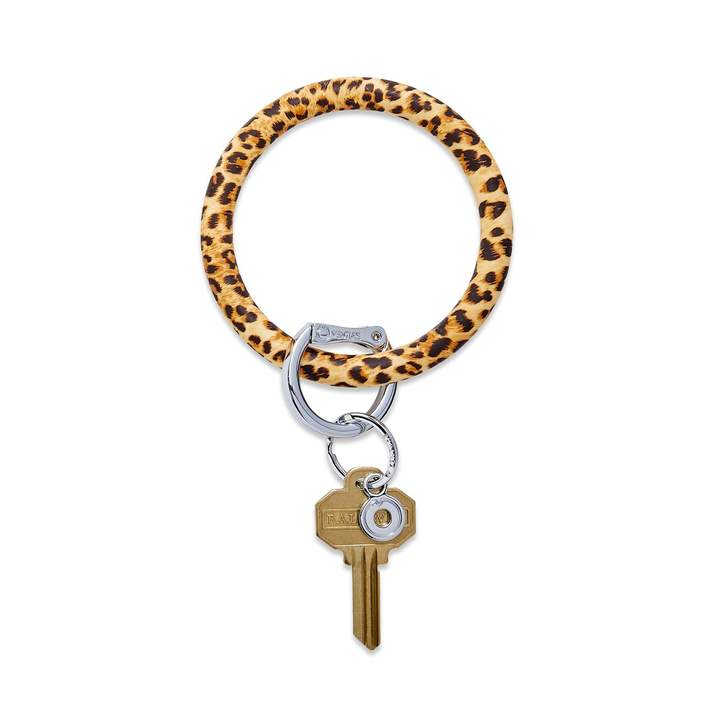 Silicone Big O® Key Ring - Cheetah
