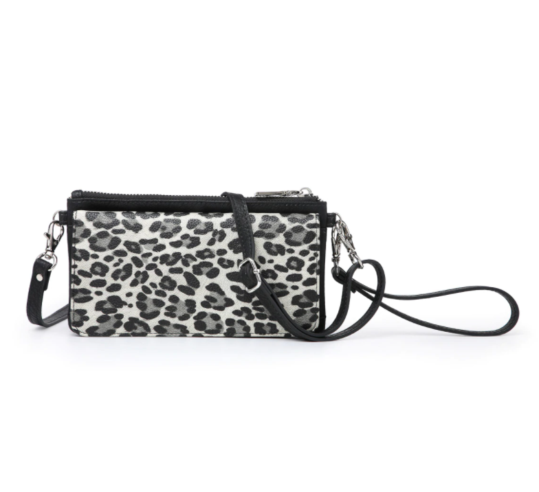 Eden Wallet/Crossbody - Cheetah/Grey
