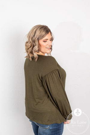 Hallie Olive Top FINAL SALE