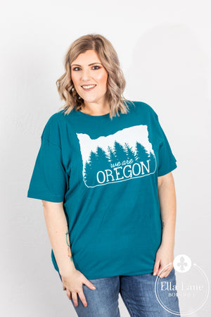 We Are Oregon Fundraiser Unisex Tee Blue - Teal FINAL SALE