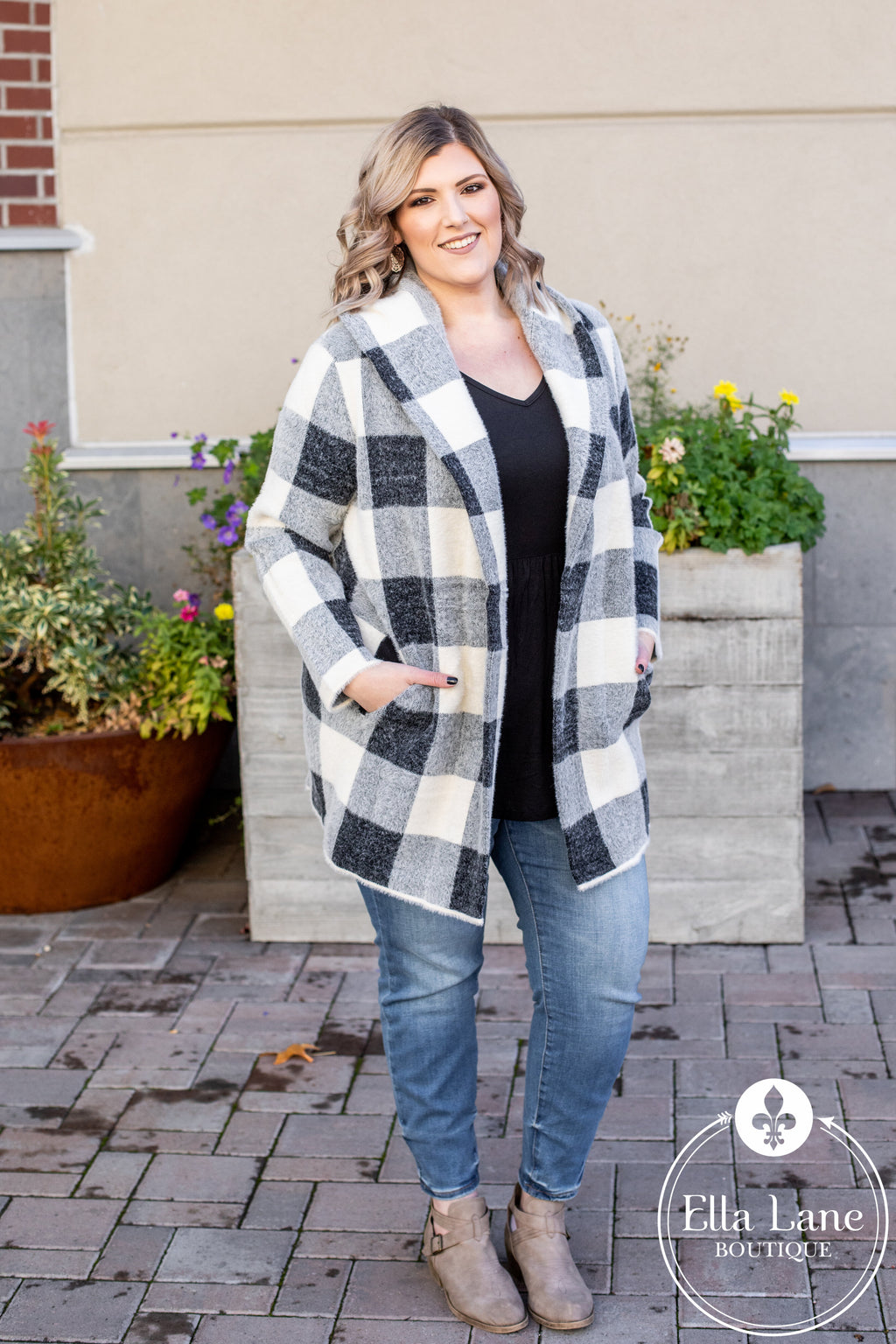Penelope Plaid Hooded Jacket FINAL SALE
