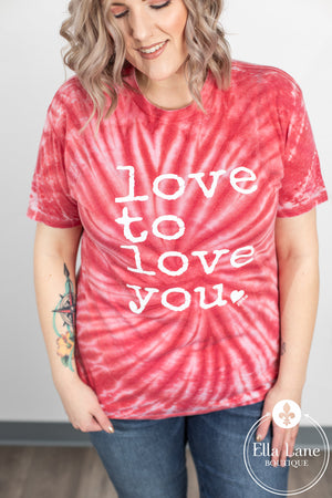 Love to Love You Burnout Tee