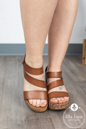 LeeLee Wedge Sandals - Arabian Sand FINAL SALE