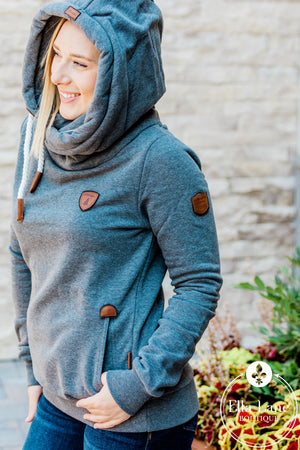 Wanakome Artemis Hoodie - Dark Heather Grey