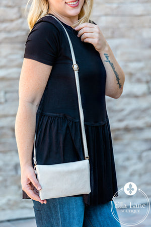 Hobo Wallet/Crossbody - Ivory
