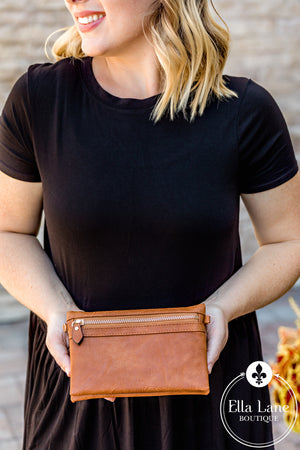 Hobo Wallet/Crossbody - Brown