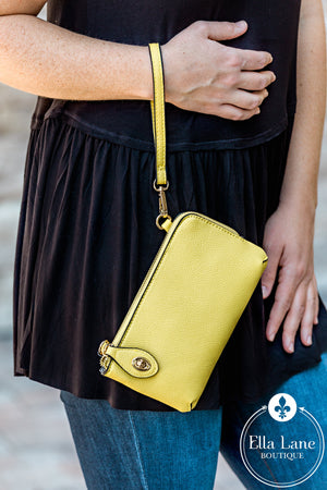 Kendall Wallet/Crossbody - Lemon