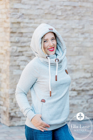 Wanakome Artemis Hoodie - Heather Grey