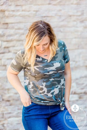 Dusty Camo Top