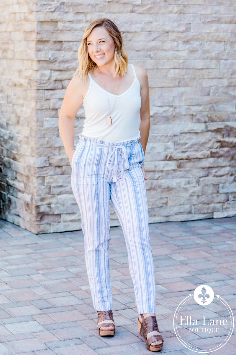Giavanna Crop Linen Pants