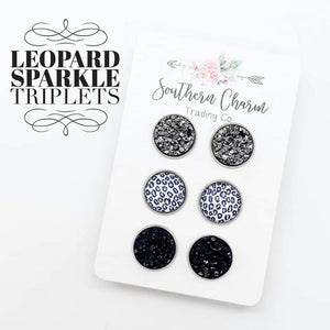 Gunmetal/Leopard/Black Trio Set
