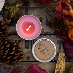 Wooden Wick Candle - Harvest Moon