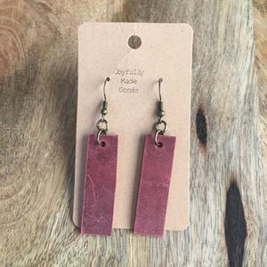 JMG - Red Bar Earrings