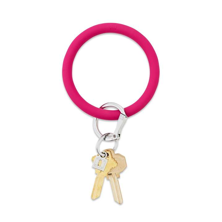 Silicone Big O® Key Ring - I Scream Pink