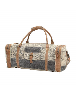 Floral Print & Hair-On Traveller Duffel Bag