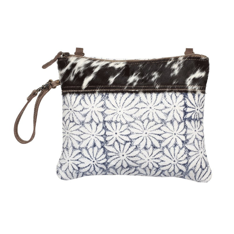 Noir & Flower Crossbody Pouch Bag