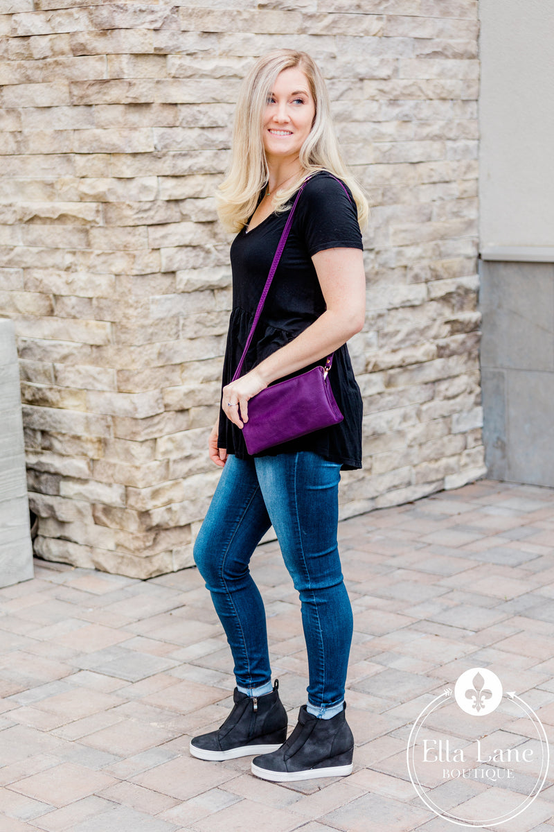 Liz Crossbody/Clutch - Purple