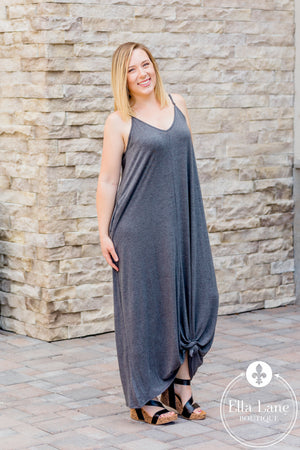 Bethany Cami Maxi Dress - Charcoal - FINAL SALE
