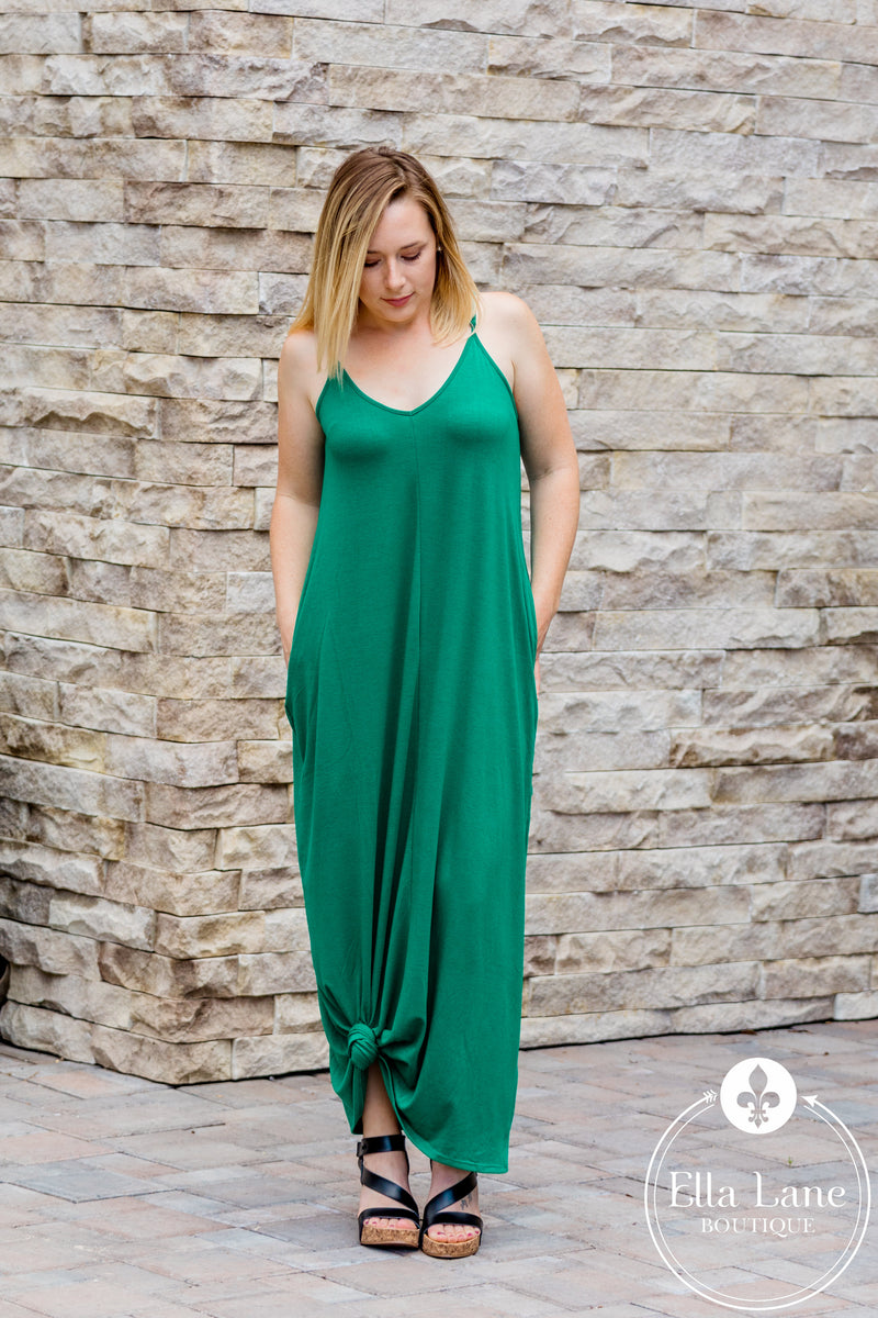 Bethany Cami Maxi Dress - Green