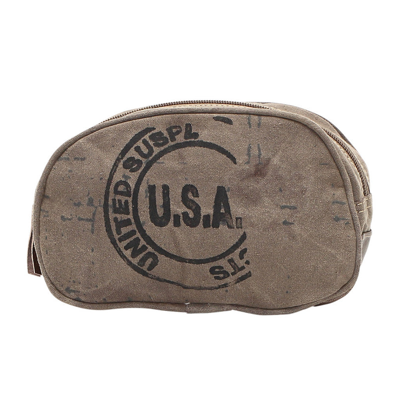 Small USA Stamp Make-Up Kit Bag