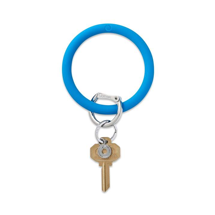 Silicone Big O® Key Ring - Peacock