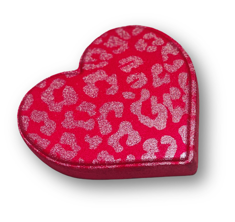 Red Boujee Heart Bath Bomb