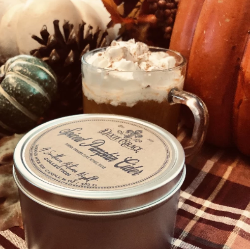 Wooden Wick Candle - Spiced Pumpkin Cider