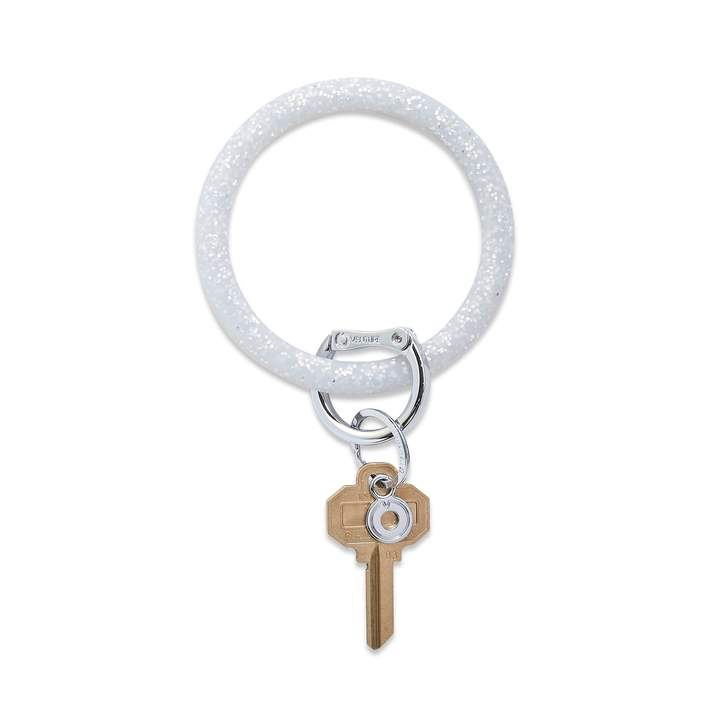 Silicone Big O® Key Ring - Quicksilver Confetti