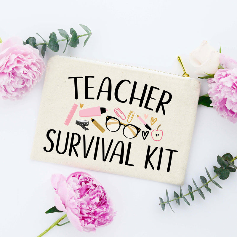 Teacher Survival Kit Makeup Bag FINAL SALE