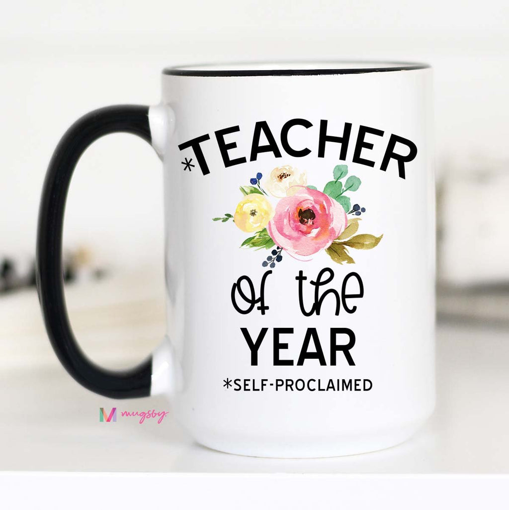 Teacher Of The Year Mug -15oz