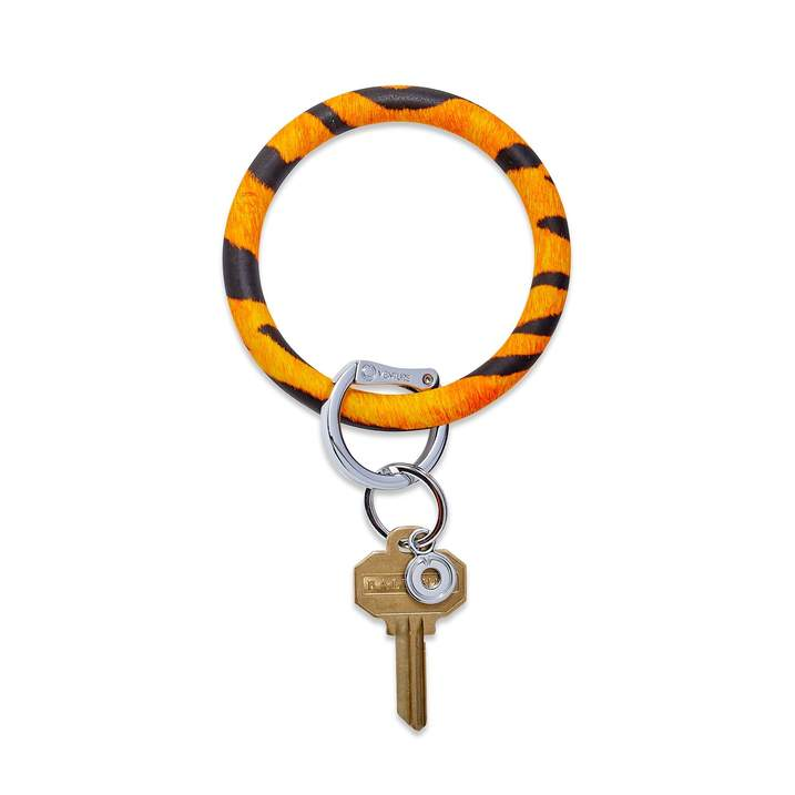 Silicone Big O® Key Ring - Tiger