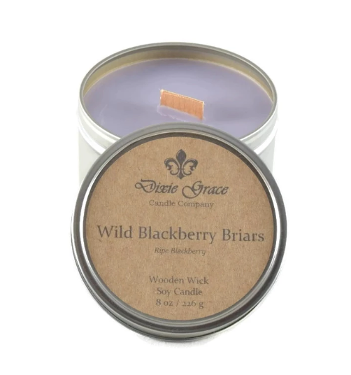 Wooden Wick Candle - Wild Blackberry Briars